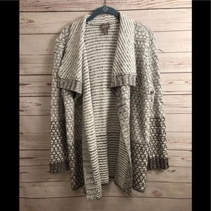 Chico's Size 1 Cardigan Sweater Open Front Top M